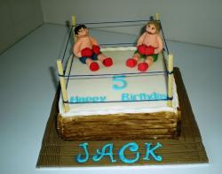 Boxing ring 5th birthday cake.JPG