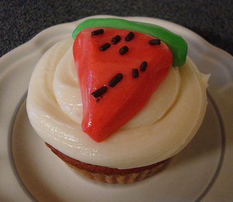 how to make fondant watermelon slices