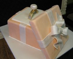 Beautiful engagement cake with engagement ring theme.PNG