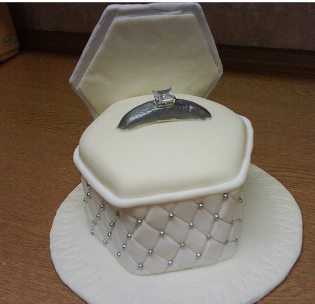 Engagement cake of a engagment ring in the jewelry box png 3 comments
