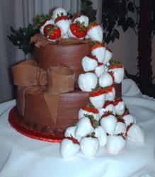 Chocolate bow groom's cake.jpg