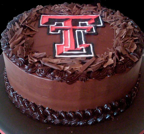 Texas Tech Round Chocolate Cake Jpg
