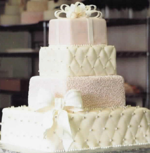 Chic Square Wedding Cake With Beats Png