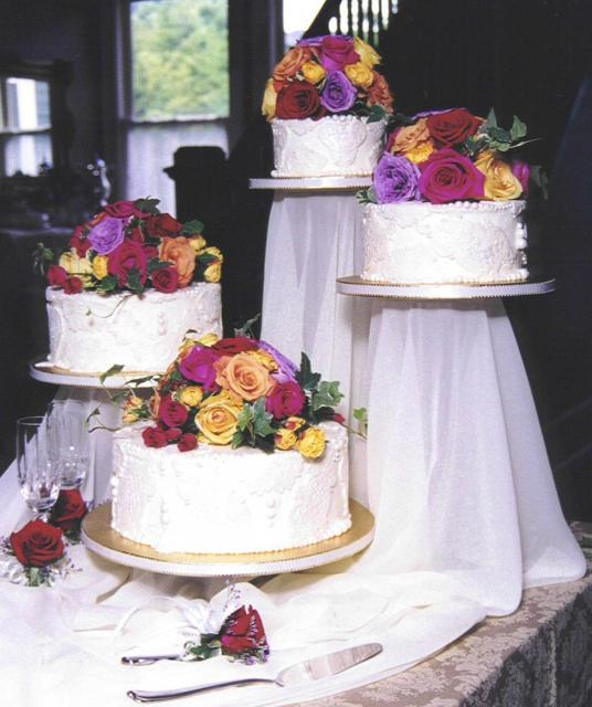 Wedding Cakes Wedding Cake Fresh: Wedding Cake With Colorful Fresh Flowers Hi-Res 1080p HD