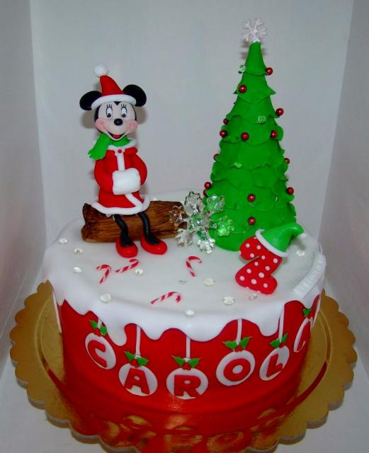 Pin Christmas Gift Minnie Mouse Birthday Cake Designs On Cake on