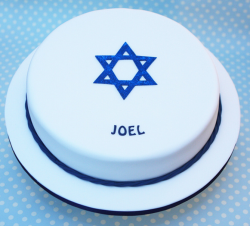 Simple style Bar Mitzvah cake decor picture.PNG