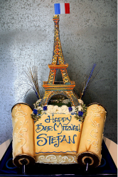 Eiffel Tower Bar Mitzvah cake photo.PNG