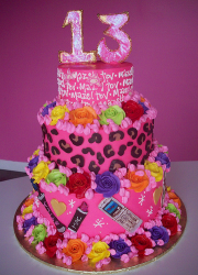 Colorful Bat Mitzvah cake photo.PNG