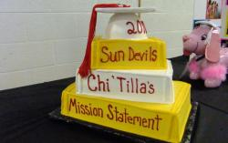 3 tier book theme Arizona State Sundevils graduation cake.JPG