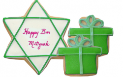 BarMitzvah Star and green gift boxes.PNG
