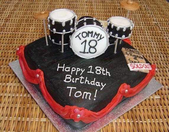 Drum Theme 18th Birthday Cake Jpg