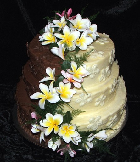 frangipani wedding with flowers jpg  2 comments  cake