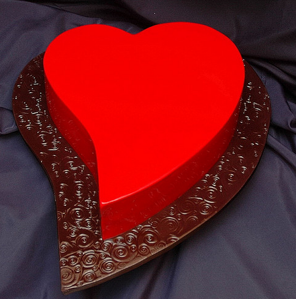 Red Heart Cake Images : bright red heart shaped valentine cake.PNG (6 comments)
