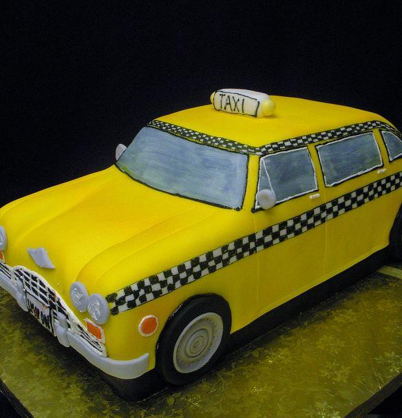 Taxi Wedding Cake