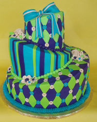 Chic Bat Mitzvah cake pictures with cool cake patterns.PNG
