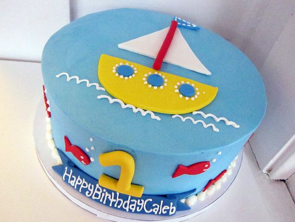 Birthday Cake For One ~ Ocean and sailing theme birthday cake for one year old g