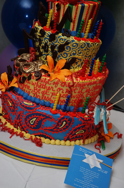 Colorful Bat Mitzvah cake pictures.PNG