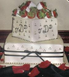 Black and White grooms cake.jpg