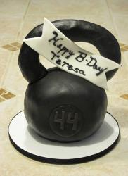 Black mini dumbell cake.JPG