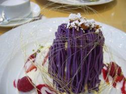 ice cream, sponge cake and tiny biscuit were hidden inside the purple.jpg