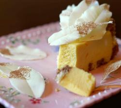 White Chocolate-Passion Fruit Mousse Cake with White Chocolate Leaves.jpg