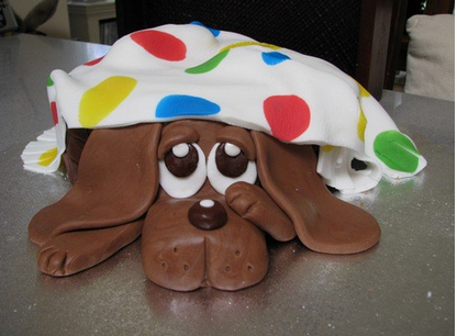 Birthday Cake  Dogs on Adorable Dog Birthday Cake With Dog Under Blanket Png