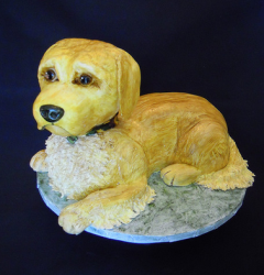 Cool dog shaped cake for dogs birthday.PNG