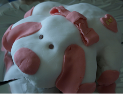 Cute homemade dog birthday cake.PNG