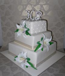 Three tier wedding cake-Annette's Heavenly Cakes