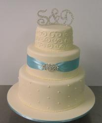 Three tier wedding cake-Annette's Heavenly Cakes Perth
