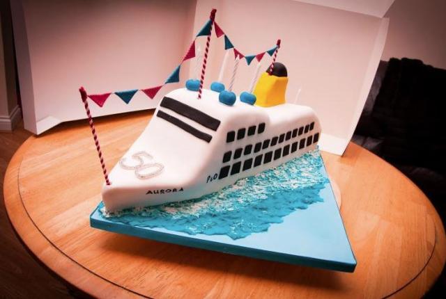 Cruise Ship Cake For Th BirthdayJPG - Cruise ship cake
