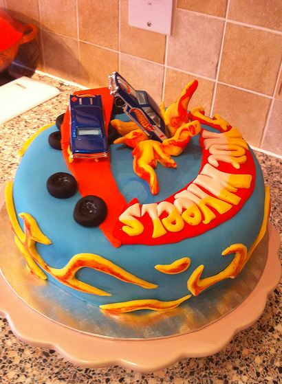 Round Powder Blue Hot Wheels Theme Cake Jpg 1 Comment