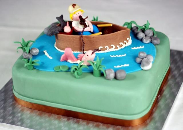 Fishing Birthday Cake Ideas For Men 17880 Man On Boat Fish
