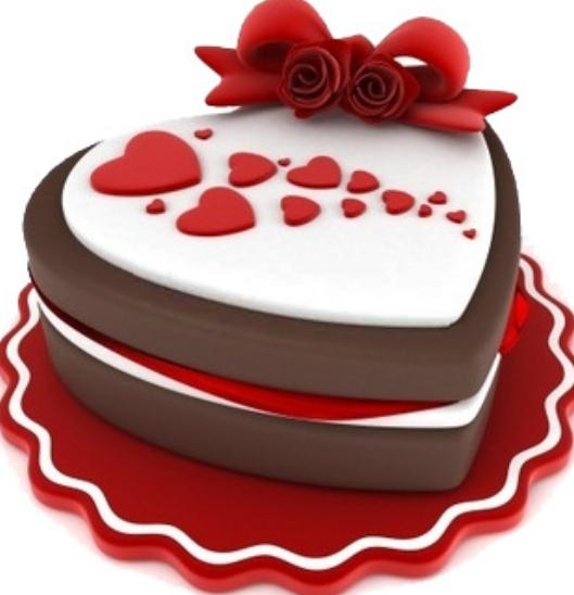 clip art heart shape cake - photo #21