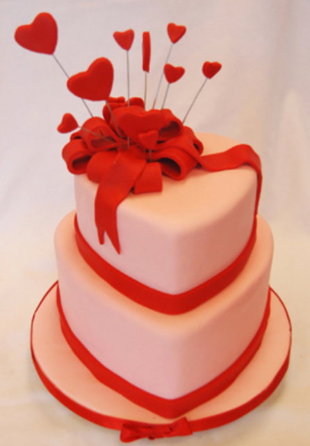 Cake Decor Hearts : Fancy valentine cakes with hearts cake decor photos.PNG