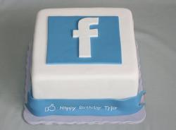 Blue And Black 2 Tier Topsy Turvy 21st Birthday Cake Jpg