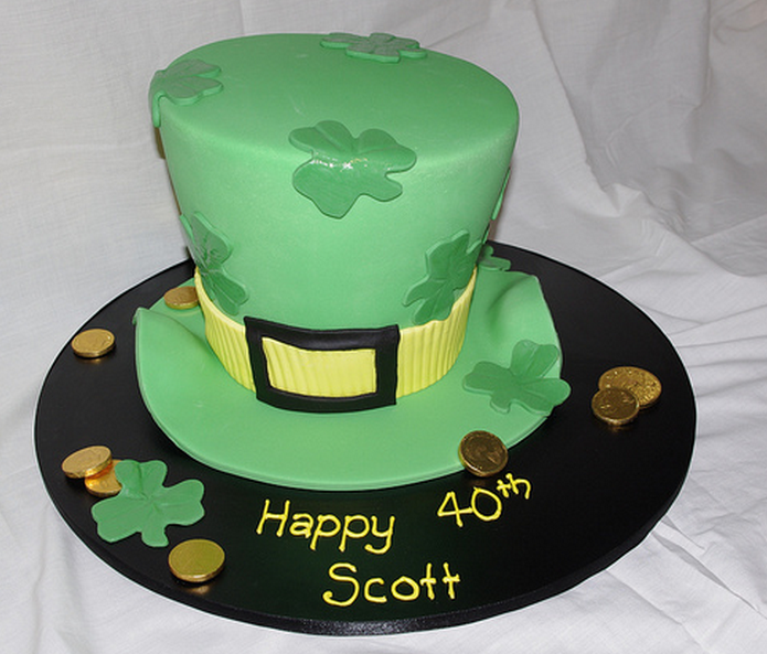 St. Patrick's Day hat cake for birthday cake.PNG