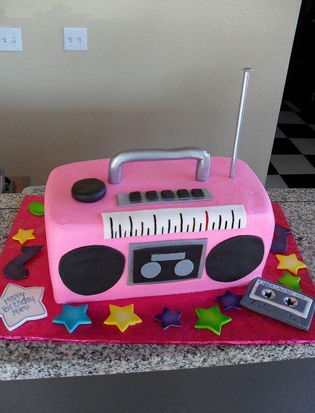 Pink Boombox Birthday Cake Jpg 1 Comment