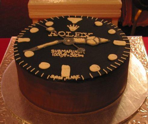 Round Rolex Theme Cake Jpg