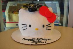 Hello Kitty ice cream graduation cake from Baskin Robbins.JPG