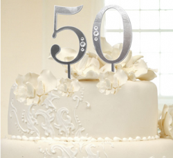 Modern golden anniversary cake topper photos.PNG
