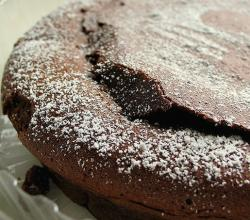 Chocolate Torte with white sugar powder on the top.jpg