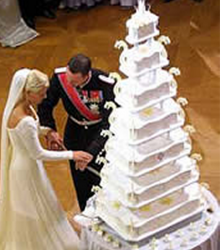 Princess Mette-Marit wedding cake_royal wedding cake pictures.PNG