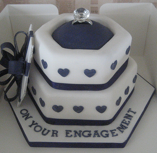 Engagement Ring Box Cake Topper