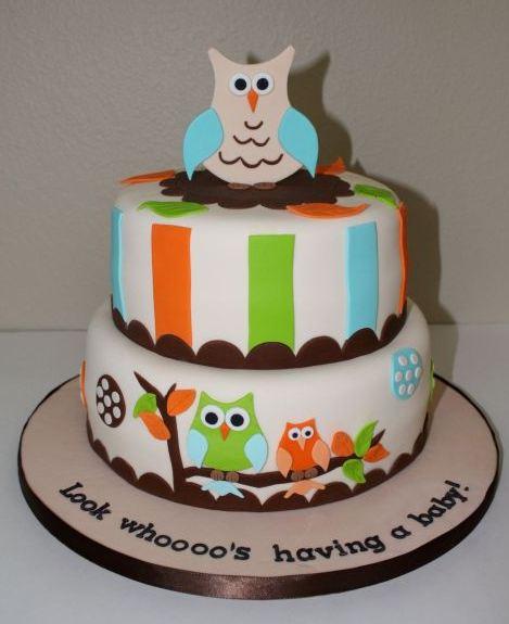 Owl Themed Baby Shower Cake Owl Theme Baby Shower Cake