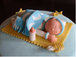 Baby Boy Cake Topper with baby sleeping.PNG