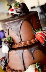 2 tier chocolate cake with chocolate-covered strawberries.JPG