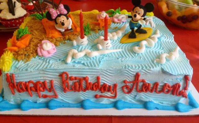 Terrific Micky And Minnie Mouse Beach Fun Theme Birthday Cake Jpg Hi Res Funny Birthday Cards Online Unhofree Goldxyz