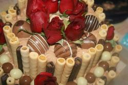 Chocolate Cake with red roses.jpg