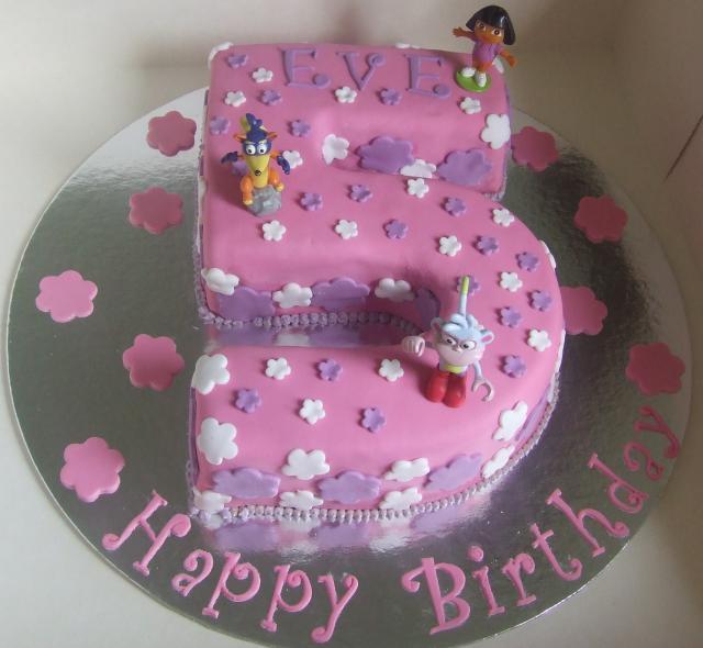 5th Birthday Cake Dora Theme Hi Res 1440p Qhd